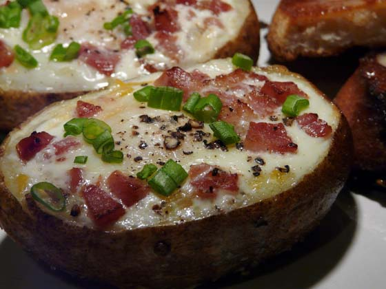 baked potato com recheio italiano